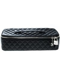 Chanel - Quilted Leather Makeup Bag - Lyst