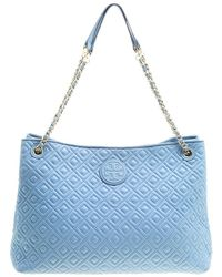 Tory Burch - Light Quilted Leather Marion Tote - Lyst