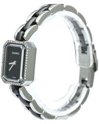 Chanel - Stainless Steel Diamond Mini Premiere Women's Wristwatch 15mm - Lyst