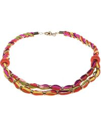 Missoni - Double Rope Braided Necklace - Lyst