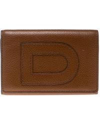 Delvaux - Leather Card Holder Wallet - Lyst