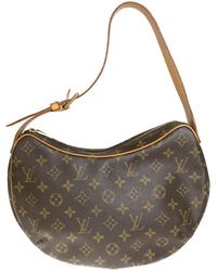 5bcaf078eb3e Lyst - Louis Vuitton Monogram Canvas Croissant Mm Bag in Brown