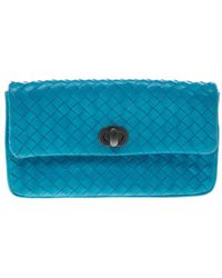 Bottega Veneta - Sky Intrecciato Leather Continental Wallet - Lyst