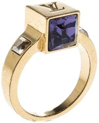 Louis Vuitton - Gamble Crystal Tone Ring - Lyst