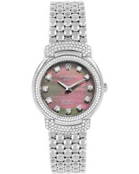 Rolex Black Mop 18k White Gold 2-row Diamond Cellini Cellissima 6673 Women's Wristwatch 26mm