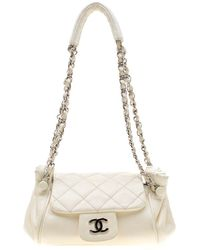 ce7641bd08cf Chanel White Quilted Lambskin Leather