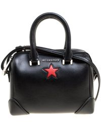 2b105065e9 Givenchy Medium Lucrezia Star Smooth Leather Bag in Black - Lyst