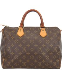 f1669eab6efd Lyst - Louis Vuitton Authentic Monogram Canvas Speedy 25 M41528 Hand ...