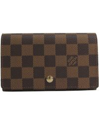 144b0bea362c Six Key Case Damier Leather Brown Multicles 6.  289. The Luxury Closet · Louis  Vuitton - Damier Ebene Canvas Porte-monnaie Tresor Wallet - Lyst