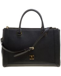 MCM - Saffiano Leather Large Nuovo Tote - Lyst