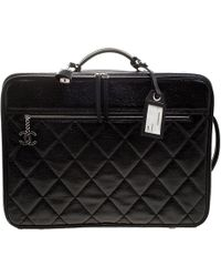 Chanel - Quilted Glossy Coated Canvas Carry On Luggage - Lyst