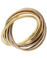 Cartier - Trinity 18k Three Tone Gold 7 Band Rolling Ring Size 61 - Lyst