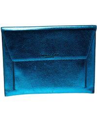 Burberry - Metallic Leather Envelope Ipad Case - Lyst