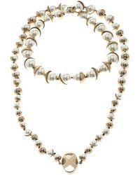 Dior - Mise En Faux Pearl Gold Tone Necklace - Lyst