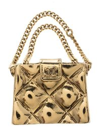 Chanel - Cc Quilted Bag Tone Pin Brooch - Lyst