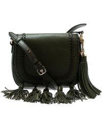72a40d5f4f3df7 Michael Kors - Olive Green Leather Moroccan Saddle Messenger Bag - Lyst