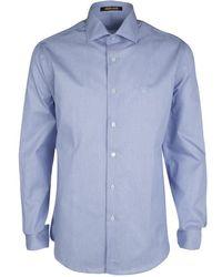 Roberto Cavalli - Hairline Striped Cotton Long Sleeve Slim Fit Shirt 3xl - Lyst