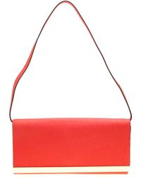 MICHAEL Michael Kors Red Leather Lana Clutch - Pink