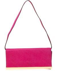 MICHAEL Michael Kors Magenta Leather Lana Clutch Bag - Pink
