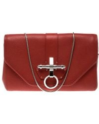 Givenchy - Leather Obsedia Chain Clutch - Lyst