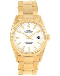 Rolex - 18k Yellow Gold Datejust Men's Wristwatch 34mm - Lyst