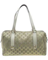 b81257a0443e Gucci Canada Gg Flag Collection Boston Bag in Gray - Lyst