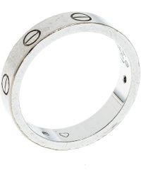 Cartier - Love Diamond 18k White Gold Wedding Band Ring - Lyst