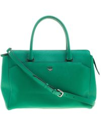 MCM - Leather Convertible Tote - Lyst