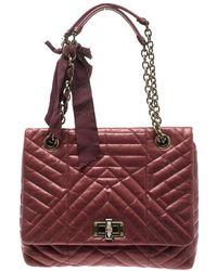 Lanvin - Leather Medium Happy Classic Shoulder Bag - Lyst