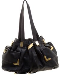 75094f6a955b Lyst - MICHAEL Michael Kors Ani Large Leather Top Zip Tote in Black