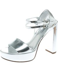 Louis Vuitton - Silver Patent Leather - Lyst