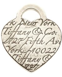 Tiffany & Co. - Fifth Avenue New York Note Heart Pendant Charm - Lyst