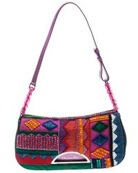 Dior - Embroidered Beads And Denim Limited Edition 167/200 Shoulder Bag - Lyst