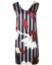 Marni - Striped Floral Print Sleeveless Dress Xs - Lyst