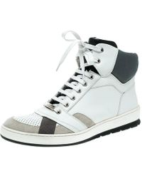 Dior - Homme Tri Colour Leather High Top Trainers - Lyst