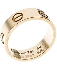Cartier - Love 18k Yellow Gold Band Ring Size 50 - Lyst