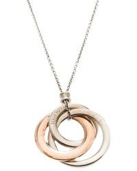 Tiffany & Co. - 1837 Interlocking Circles Rubedo & Pendant Necklace - Lyst