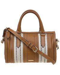34b92524b21d Lyst - Burberry Medium Deerskin Bowling Bag in Brown