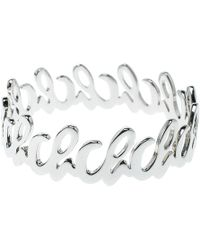 CH by Carolina Herrera - Tone Bangle Bracelet - Lyst