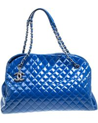 Chanel - Patent Leather Bowling Bag - Lyst