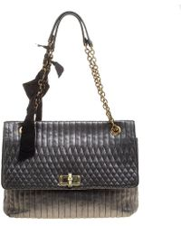 Lanvin - Metallic Quilted Leather Happy Shoulder Bag - Lyst