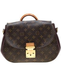59824cf68 Louis Vuitton Pre-owned Cloth Crossbody Bag in Brown - Lyst