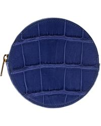 Céline - Croc Embossed Round Zip Coin Purse - Lyst