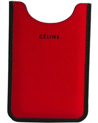Céline - Red/black Leather Phone Case - Lyst