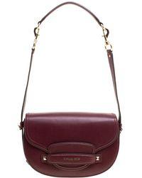 Michael Kors - Leather Medium Cary Saddle Shoulder Bag - Lyst