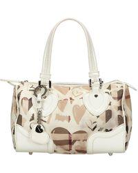 Burberry - White Check Pvc Heart Chester Bowling Bag - Lyst