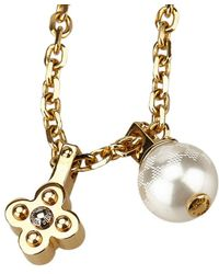Louis Vuitton - Charmy Flower Tone Faux-pearl Pendant Necklace - Lyst