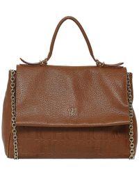 Carolina Herrera Leather Minuetto Top Handle Flap Shoulder Bag in ... e3a359b9ff1ae