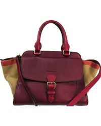 ae98d59437b2 Burberry - Check Canvas leather Medium Harcourt Tote - Lyst