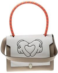 Anya Hindmarch - Beige/ Off White Leather Small Bathurst Satchel - Lyst